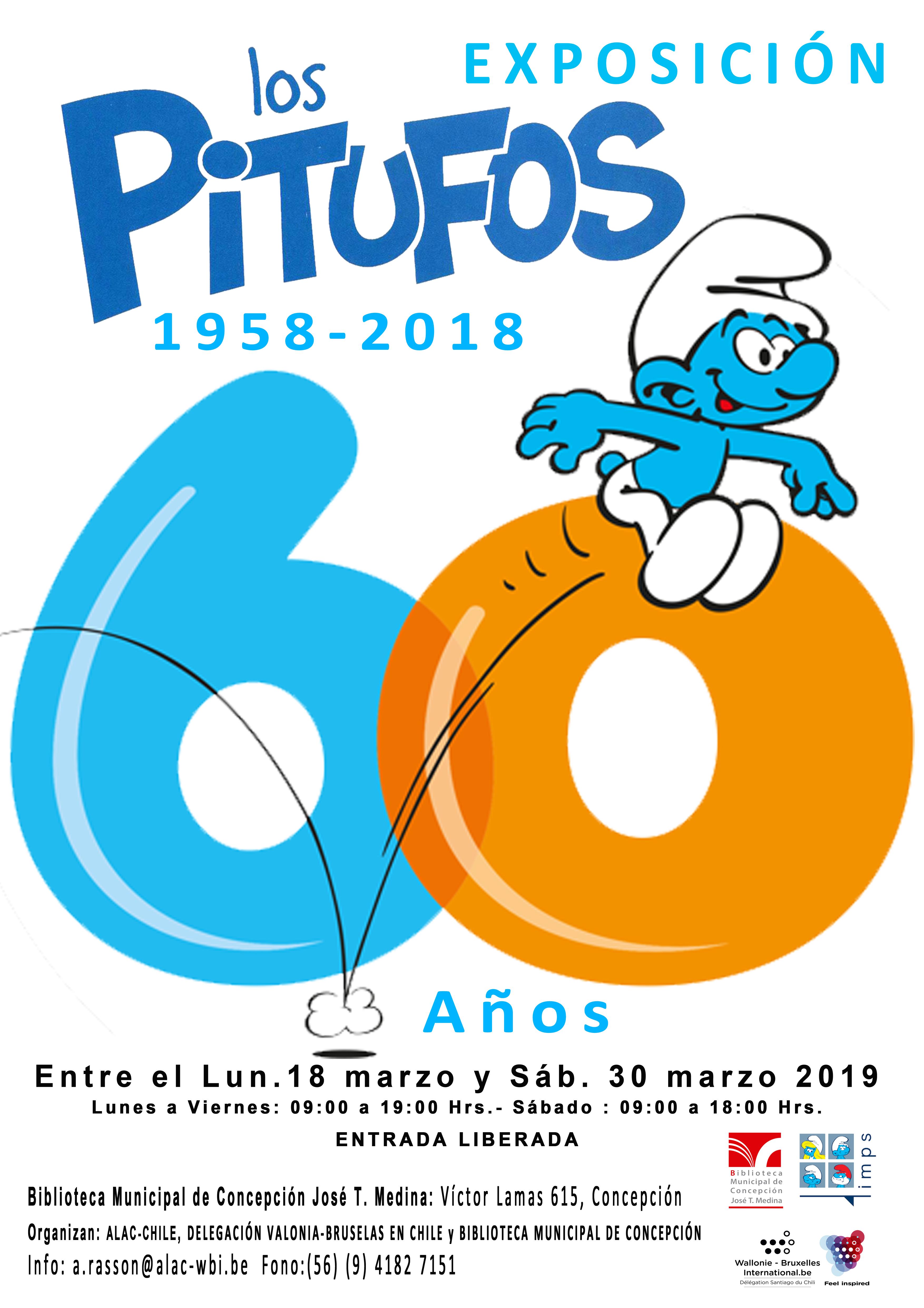 afiche-expo-pitufos-en-biblioteca-de-concepci%c2%a6n